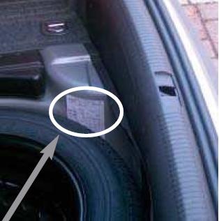 где на машине марки mazda 6 найти код краски 2004